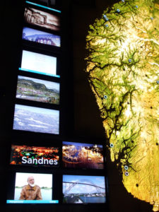 Video screens about Sandnes and other places