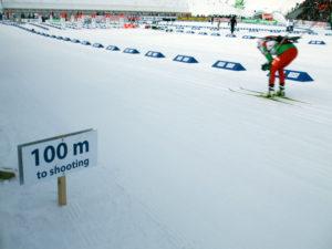 Biathlon race at Oslo
