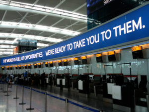Heathrow T5 British Airways banner