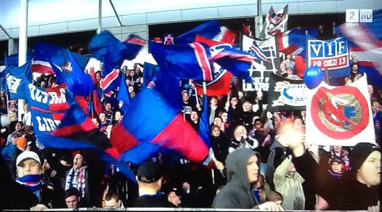 Vålerenga fans at Lillestrøm