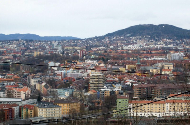 A view of Oslo from Ekeberg