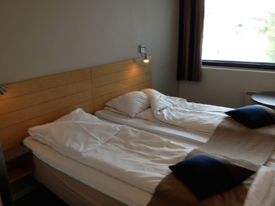 Typical twin room at St Svithun Hotell, Stavanger