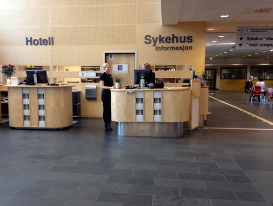 Hospital and Hotel reception desks
