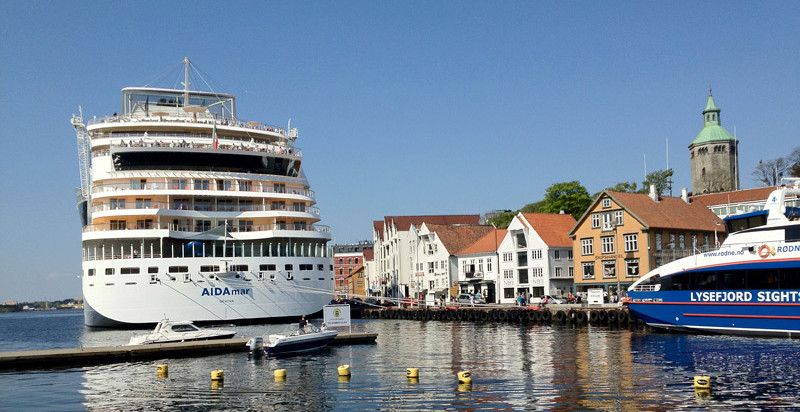 A cruise ship in Stavanger, Norway