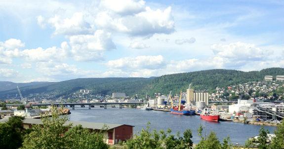 View over Drammen