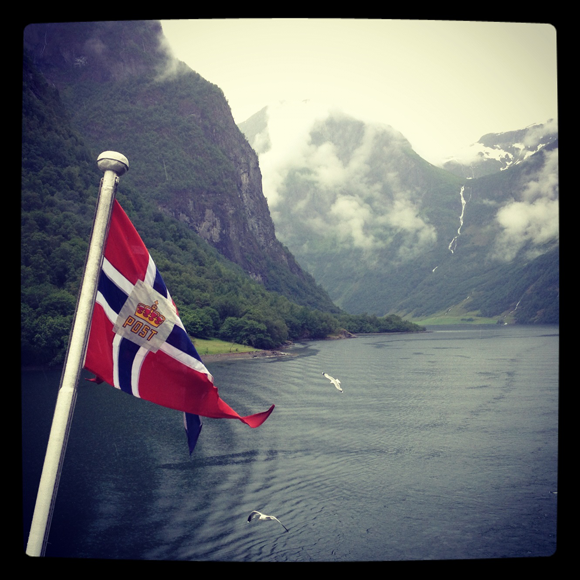 Sailing the Nærøyfjord, Norway