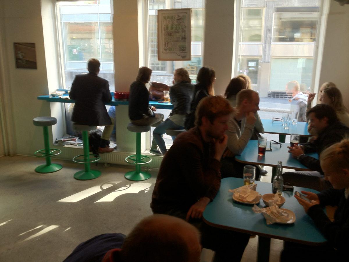 Inside Illegal Burger Oslo