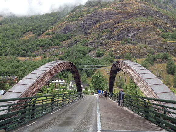 The main bridge in Flåm bridge