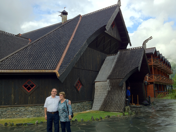 My parents outside the Ægir Brewpub