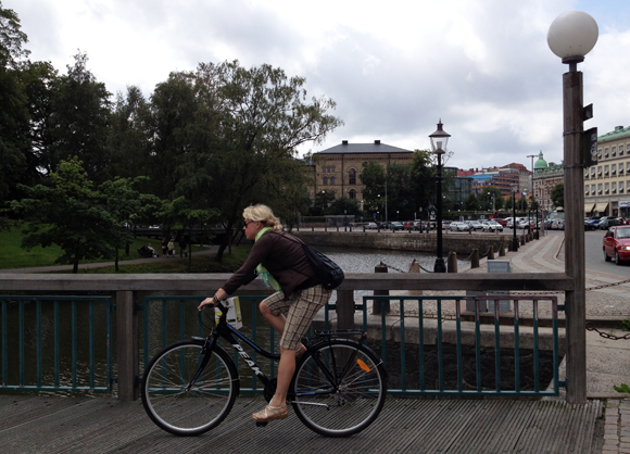 Cyclist in Gothenburg