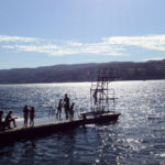 Diving into the Oslofjord at Drobak