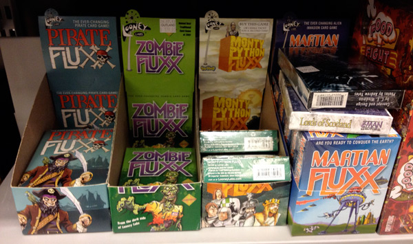 Selection of Fluxx card games