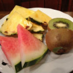 A fruit plate at breakfast