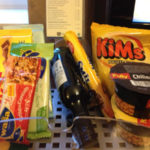 Hotel room snack selection