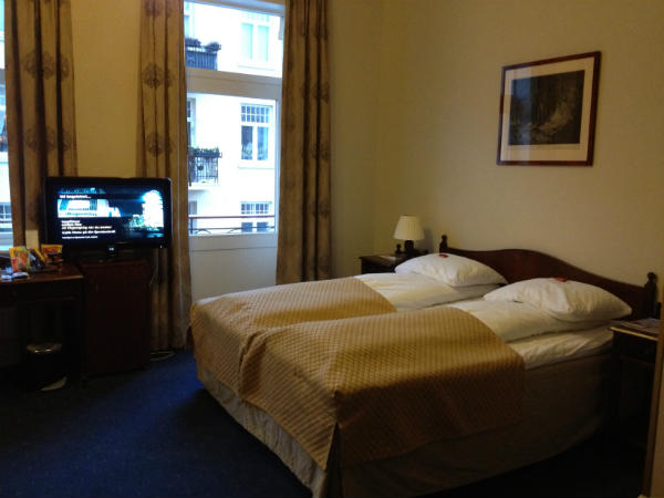 Inside hotel room