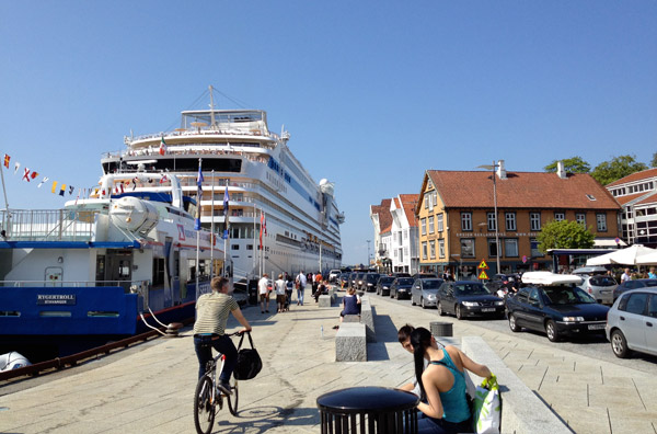 A cruise ship in Stavanger