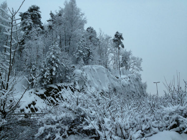 Snowy winter in Oslo