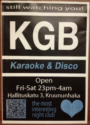 KGB Nightclub, Helsinki