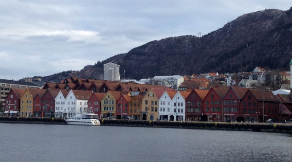 Bryggen wide view
