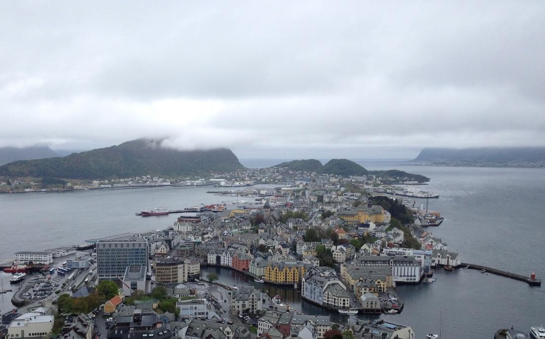 View across Ålesund
