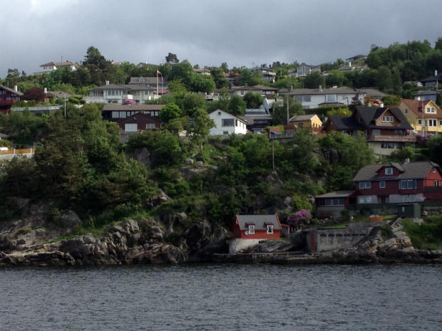 Suburb of Bergen from the water