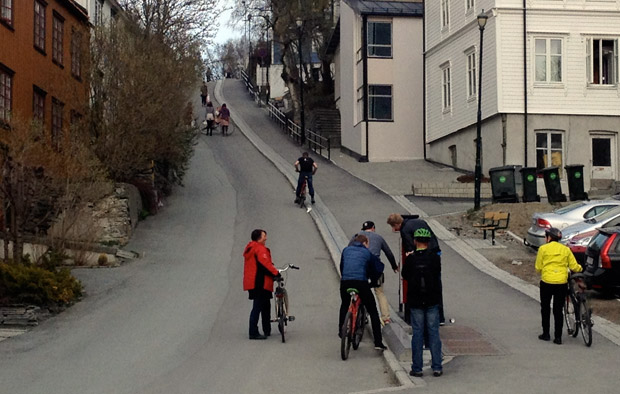 Trondheim bicycle lift