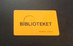 Norwegian library card
