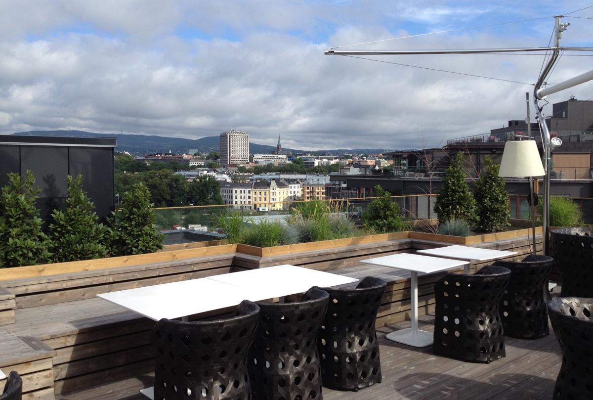 Rooftop terrace in Oslo