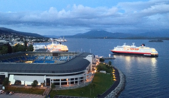 Hurtigruten ships in Molde