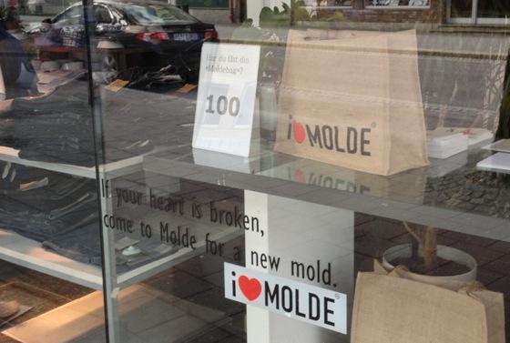 I love Molde stickers