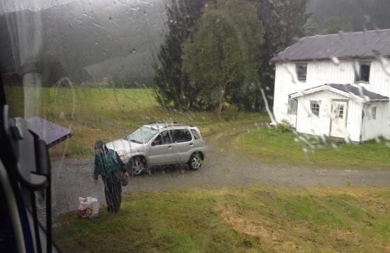 Rural bus stop in Norway