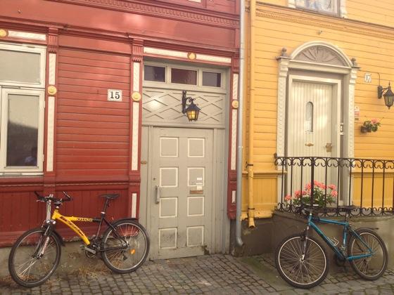 Lovely street in Trondheim
