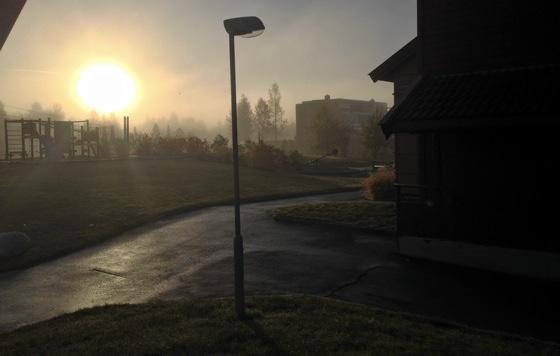 Fog at Moholt