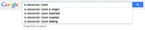 Is Alexander Rybak a virgin?