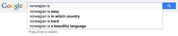Norwegian is easy
