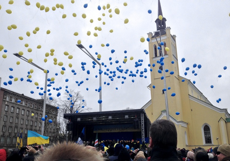 Pro-Ukraine rally in Estonia