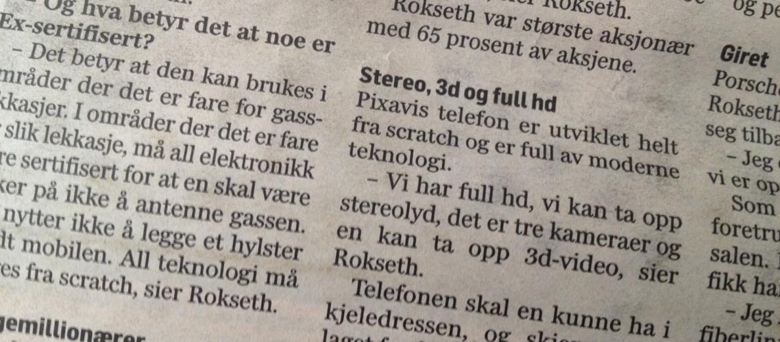 A Norwegian newspaper