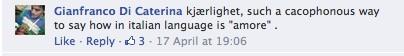 Kjaerlighet Norwegian word