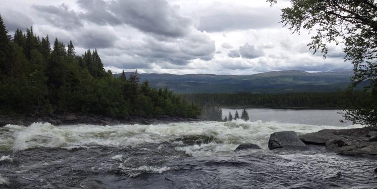 Tännforsen waterfall