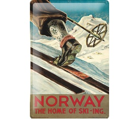 Norway ski tin sign