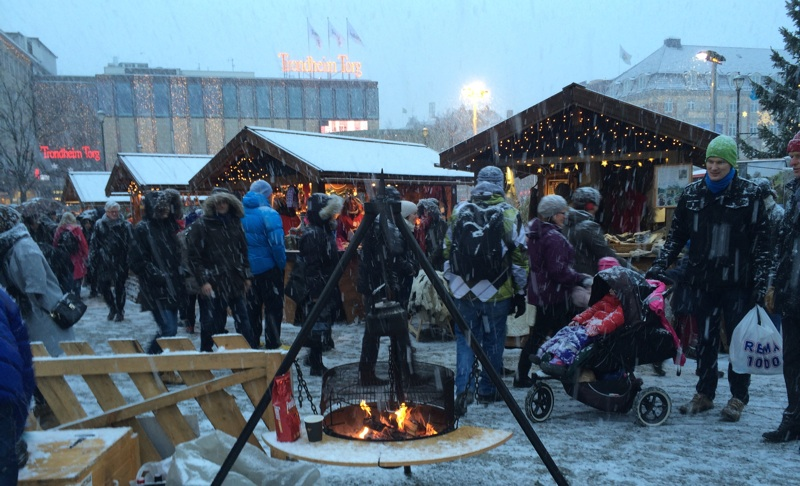 Christmas market in Trondheim