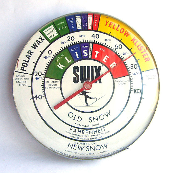 Ski wax thermometer