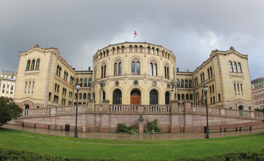 Stortinget, the Norwegian Parliament, in Oslo