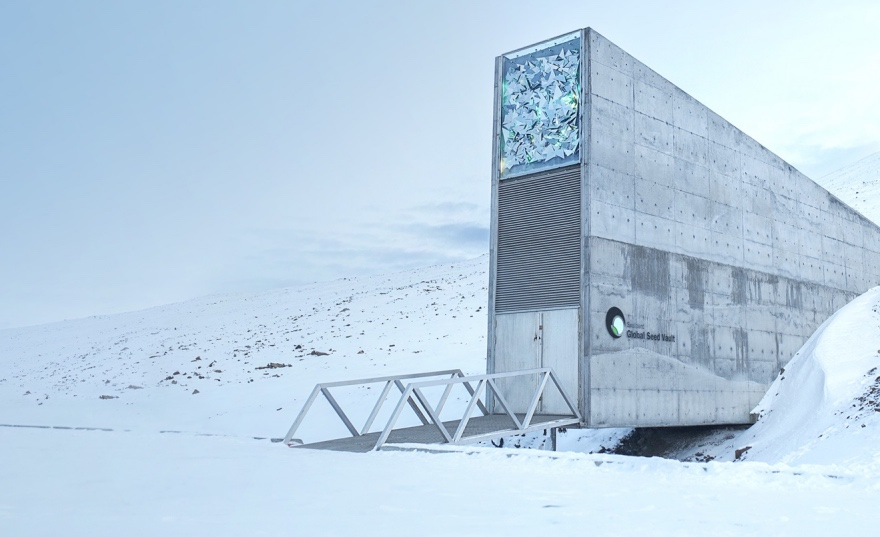 Entrance to the Global Seed Vault on Svalbard