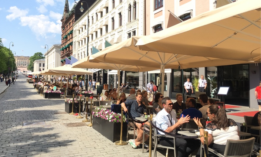 Karl Johans gate in the summer