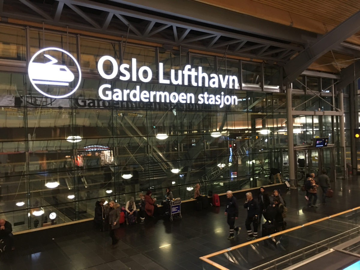 Oslo Airport Train Station