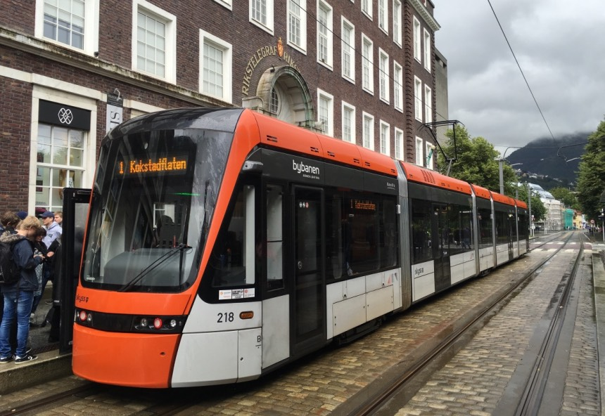 Bergen's light rail system now serves the airport.