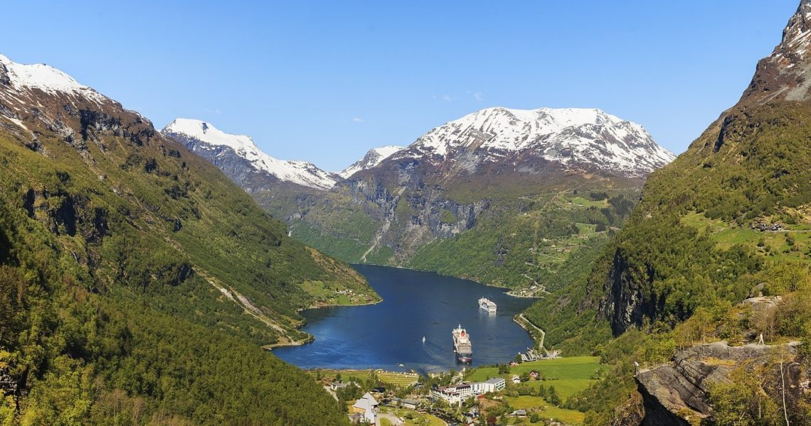 Famous view of the Geirangerfjord