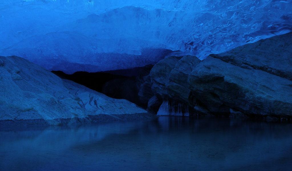 Glacier cave Norway