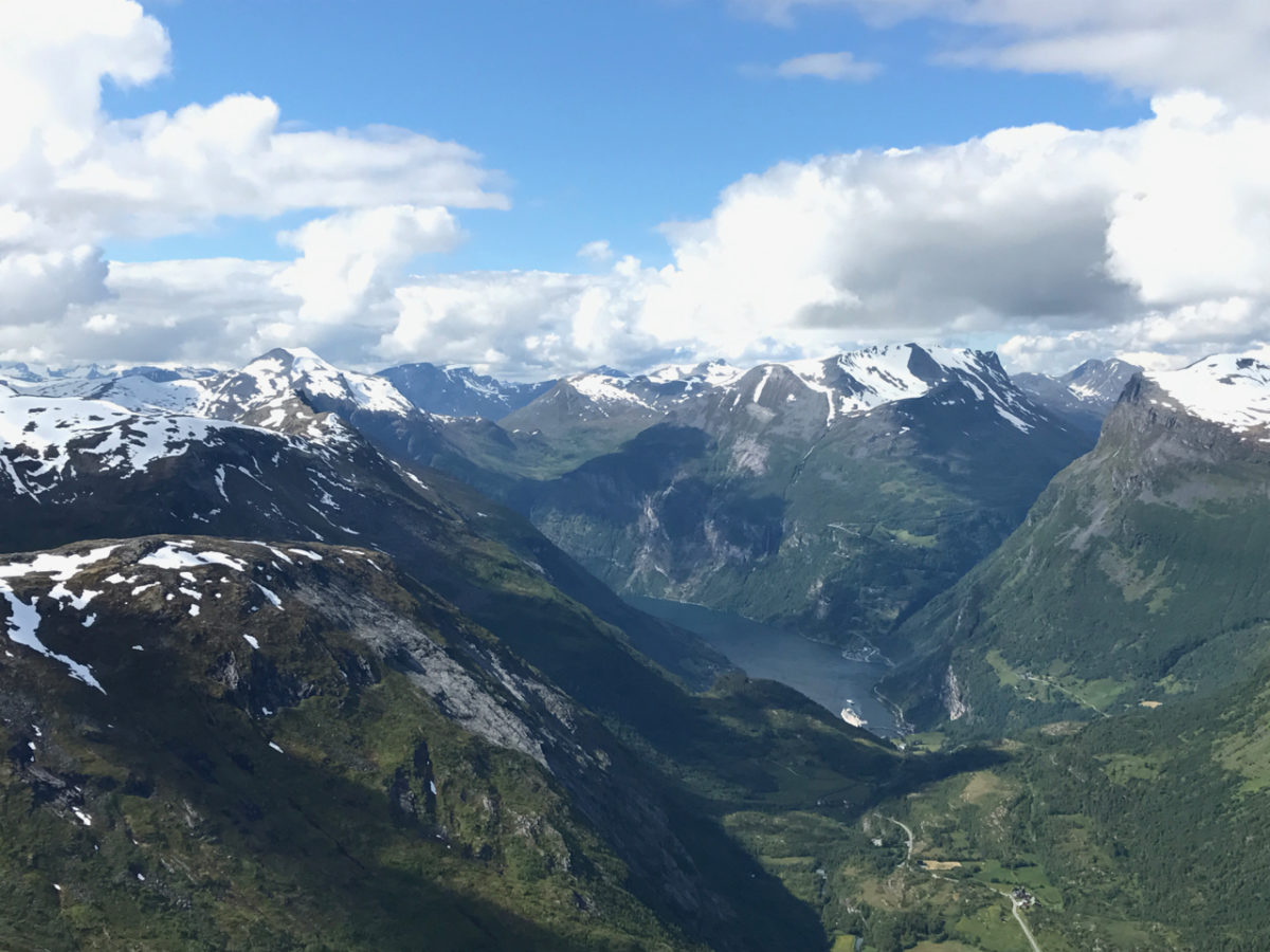 Geiranger from above